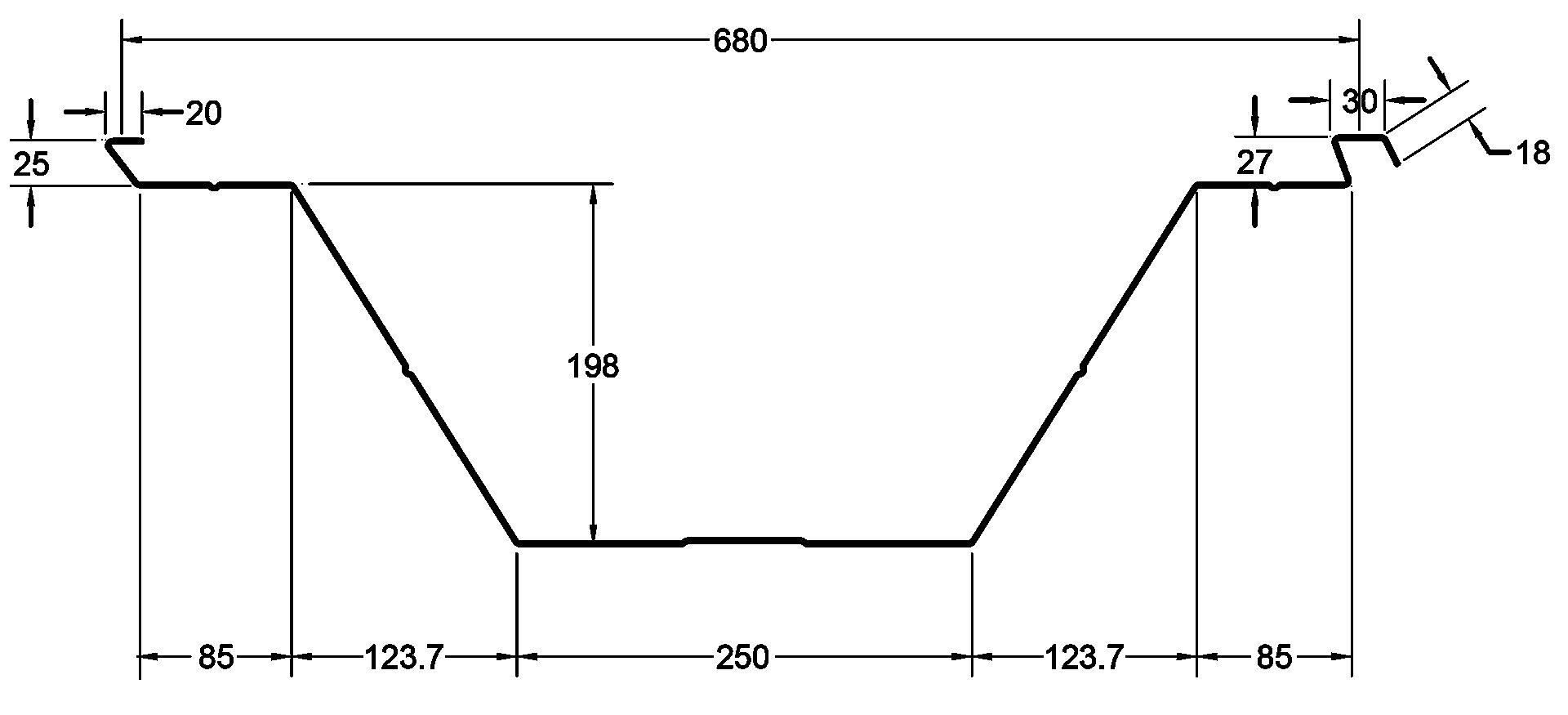 Canalón Autoportante ABM 680