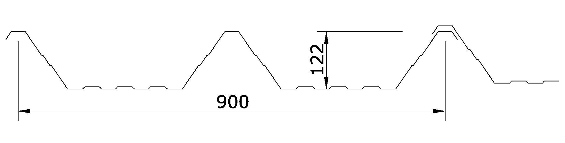 Chapa Autoportante T-90