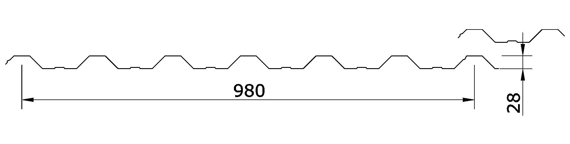 Chapa Trapezoidal T-98