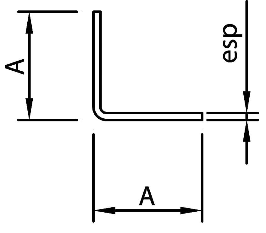 "Perfil Estructural Ángulo ""L"""